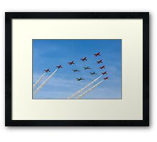 Red Arrows and Eagle Squadron Team Framed Print