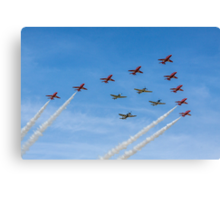 Red Arrows and Eagle Squadron Team Canvas Print