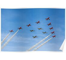 Red Arrows and Eagle Squadron Team Poster