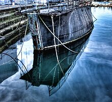 Barge reflections by Chris Brunton