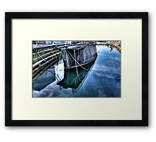 Barge reflections Framed Print