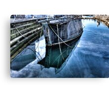 Barge reflections Canvas Print