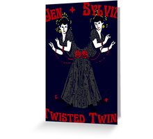 Twisted Victorian Twins Greeting Card