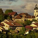 Light and clouds on Chaumont village by Patrick Morand