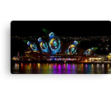 Headphone Sails - Sydney Vivid Festival - Sydney Opera House Canvas Print