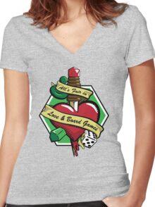 All's Fair Women's Fitted V-Neck T-Shirt