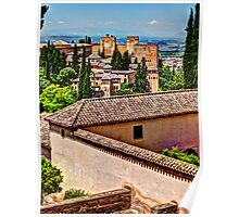 Alhambra rooftops Poster