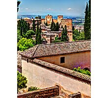 Alhambra rooftops Photographic Print
