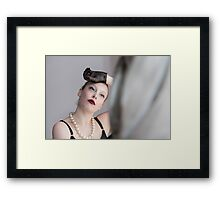 Waiting by the window Framed Print
