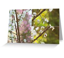 Cherry blossom and bumble bee Greeting Card