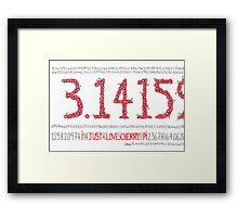 Cherry Pi Framed Print