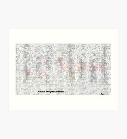 5669 0 water color pixelate pastel sketch s Art Print