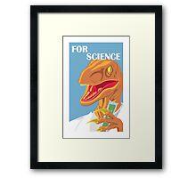 Velociraptor Science Framed Print