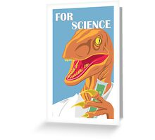 Velociraptor Science Greeting Card