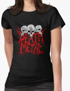 Death Metal Womens Fitted T-Shirt