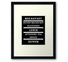 Hobbit Meals Framed Print