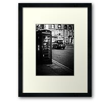 Cab and Booth Framed Print