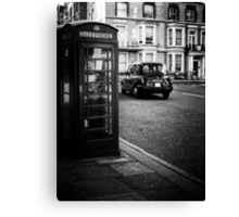 Cab and Booth Canvas Print