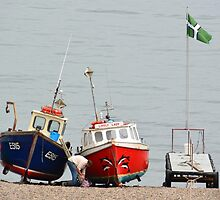 Fishing Boats at Rest Beer Devon by Ian Nicholson