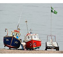 Fishing Boats at Rest Beer Devon Photographic Print