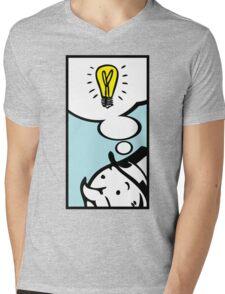 Moneybag's Bright Idea Mens V-Neck T-Shirt
