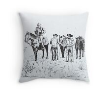 Saddle Up, Moving On Throw Pillow