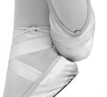 ballett dancing shoes in black and white Sticker