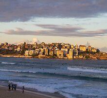 Sunset on Bondi Beach by Justine Gordon
