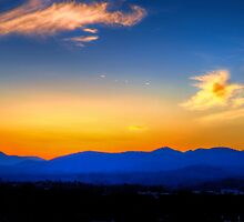 Dusk Over Asheville, NC by RedskinzFan
