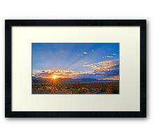 Sunset Over the Salt Lake Valley Framed Print