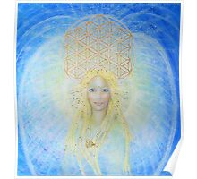 Flower of life angel Poster