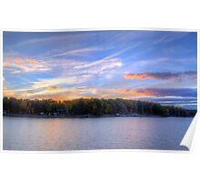 Dusk Over Smith Mountain Lake Poster