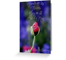 Flower stand alone Greeting Card