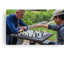 The chess game Canvas Print