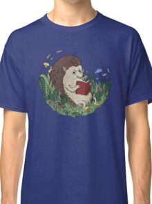 Hedgehog Reading A Book Classic T-Shirt