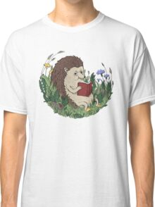 Hedgehog Reading A Book Classic T-Shirt