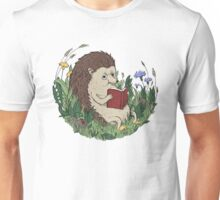 Hedgehog Reading A Book Unisex T-Shirt