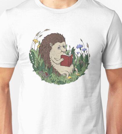 Hedgehog Reading A Book Unisex T-Shirt