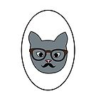 Hipster Cat by Whiteland