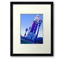 The clock, blue sky, time passes. Framed Print