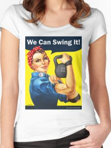 We Can Swing It! Women's Fitted Scoop T-Shirt