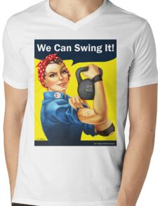 We Can Swing It! Mens V-Neck T-Shirt