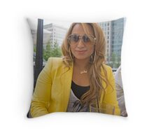 Uzma Yakoob star from the Apprentice TV programme  Throw Pillow