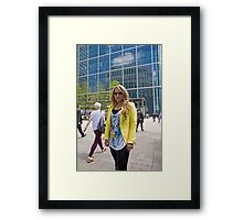 Uzma Yakoob star from the Apprentice TV programme by Canary Wharf Framed Print