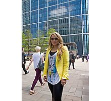Uzma Yakoob star from the Apprentice TV programme by Canary Wharf Photographic Print