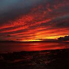Sunset Over Enniscrone Beach. by Maybrick