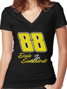Dale Earnhardt Jr. 88 Women's Fitted V-Neck T-Shirt
