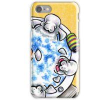 Manatees Hot Tub Fun iPhone Case/Skin