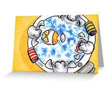 Manatees Hot Tub Fun Greeting Card