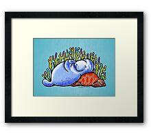 Sea Turtle and Manatee Framed Print